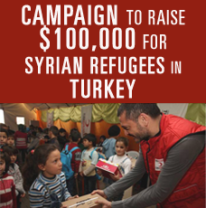 TCA Announces Nationwide Matching Campaign to Raise $100,000 for Syrian Refugees in Turkey