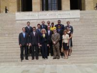 Congressional staff delegation in front of Anitkabir- the mausoleum in honor of the Republic of Turkey's founder Mustafa Kemal Ataturk.