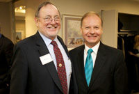 Rep. Don Young (R-Alaska), Chairman for the House Subcommittee on Alaska Native and Indian Affairs, joined TCA President G. Lincoln McCurdy at the Jan. 17 reception