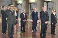Congressional delegates and TCA representatives observe a moment of silence in honor of the founder of the Turkish Republic, Mustafa Kemal Ataturk, during a wreath-laying ceremony at Anitkabir.