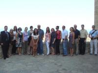Congressional staff delegation at Bellapais Abbey in Northern Cyprus