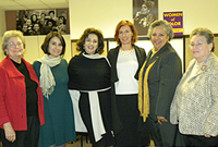Spelman professors with guest lecturer Magdalena J. Zaborowsk. From left to right: Anne B. Warner (Assoc. Prof. of English), Tinaz Pavri (Assoc. Prof. of Political Science), Mona Diamond (Turkish Honorary Consul General to Atlanta), Magdalena J. Zaborowska (Assoc. Prof. of African American Studies), Akiba Harper (Prof. of English), and Margery Ganz (Prof. of History)