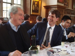 Geoffrey Edwards, Hugh Pope and Ata Akıner at dinner following Pope's lecture.