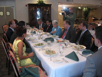 Congresswoman Virginia Foxx (R-NC/5th) and TCA President G. Lincoln McCurdy hosting a luncheon discussion in Washington, DC, about the importance of being politically involved with representatives of the Turkish American business community on September 14.