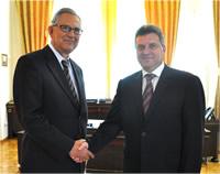 Dr. Yalcin Ayasli with Macedonian President H.E. Gjorge Ivanov