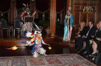 Young Fancy Dancer's performance captures the attention of Turkish Ambassador, TCA President. (Photo Credit: TurkishNY)